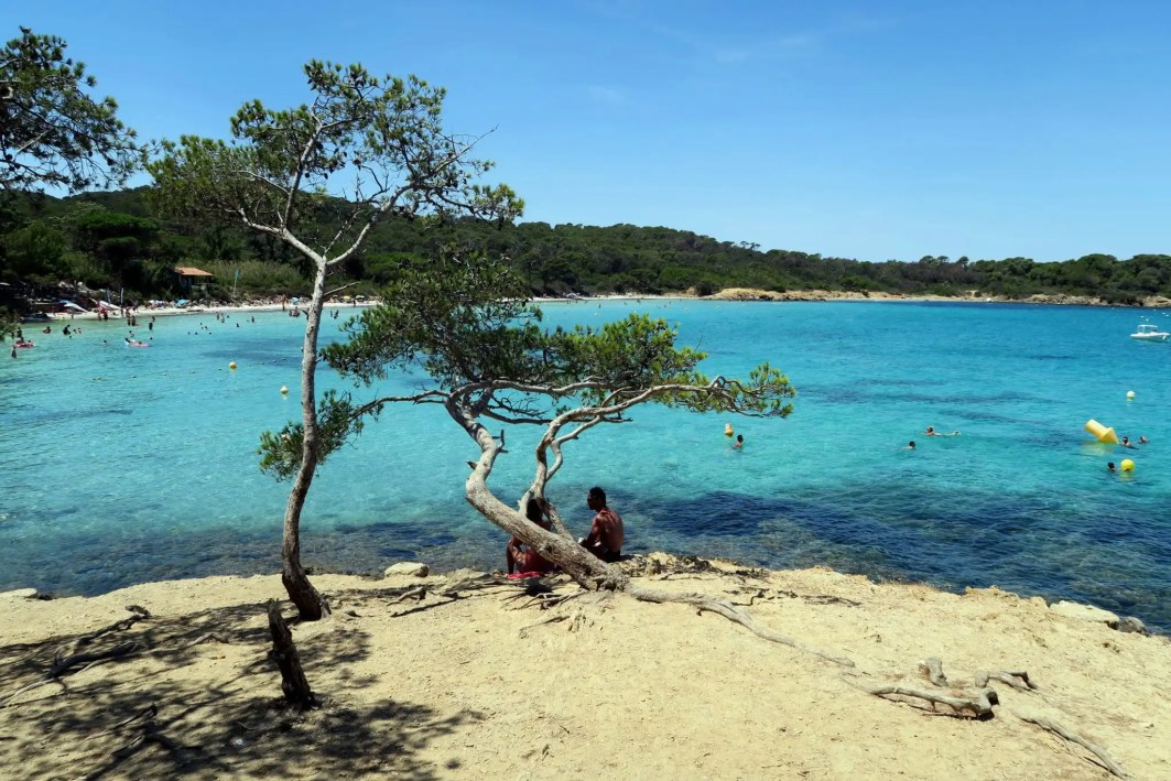Silver Beach Plage d'Argent Porquerolles Island French Riviera