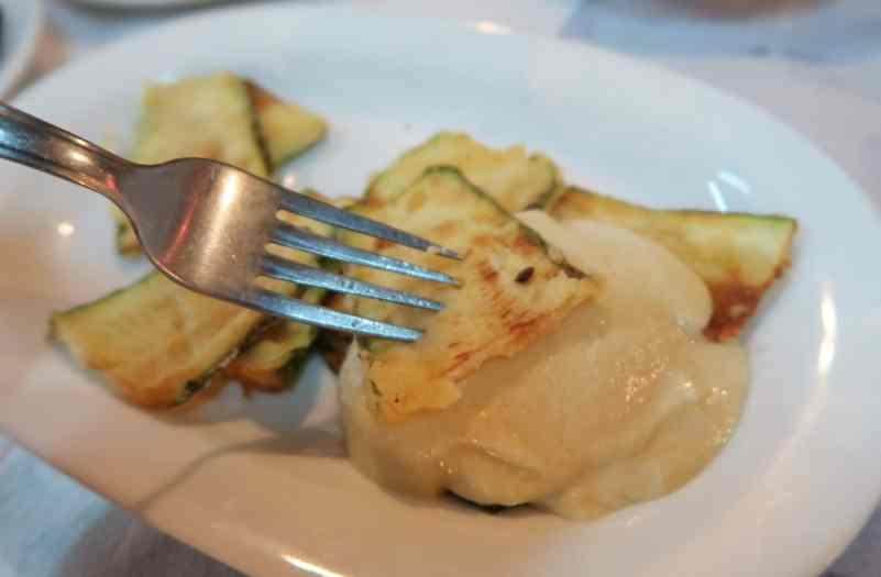 Roasted zuchinni with garlic sauce Alonissos Greece