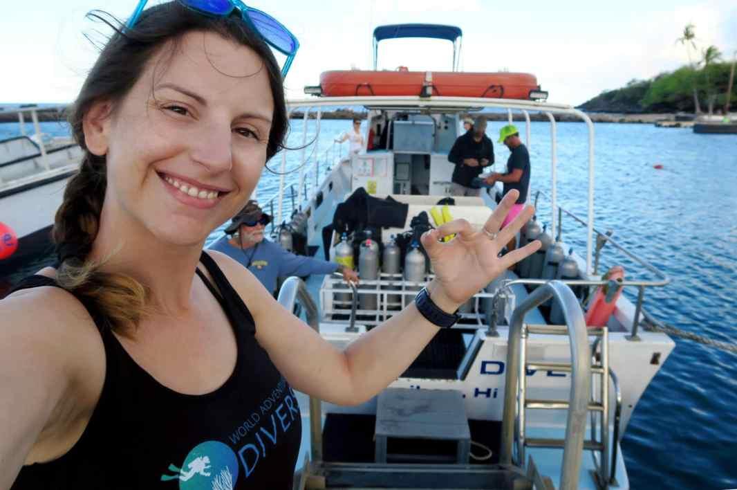 Scuba diving with Kohala Divers Big Island Hawaii USA
