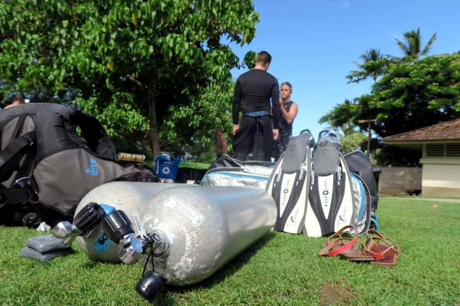 Ulua Beach Shore diving in  Maui
