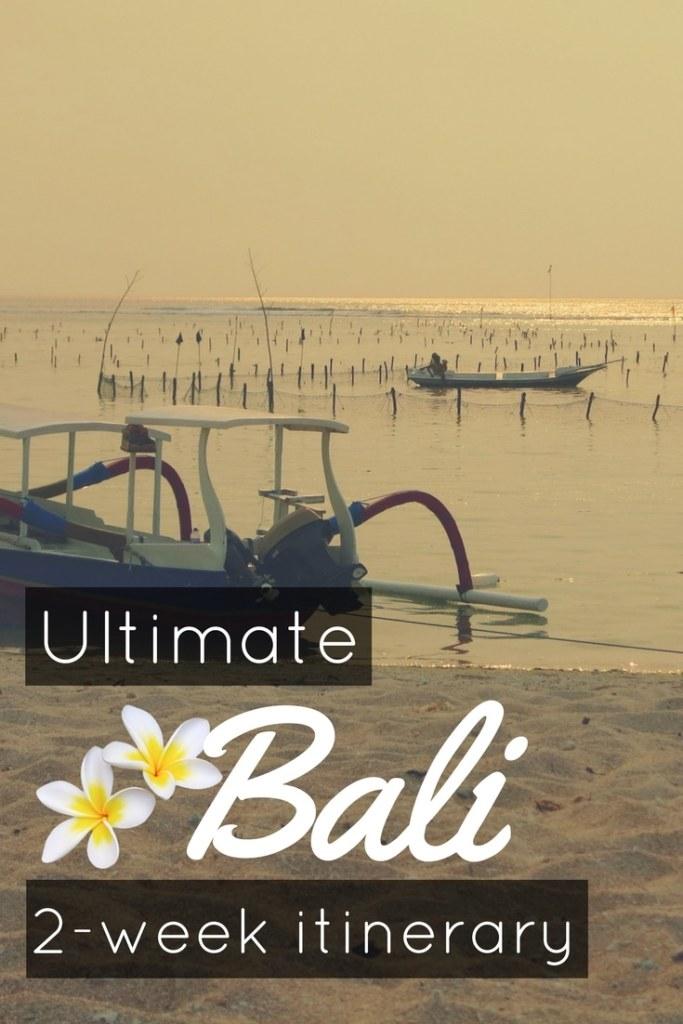 Ultimate 2 week Bali road trip itinerary pin1