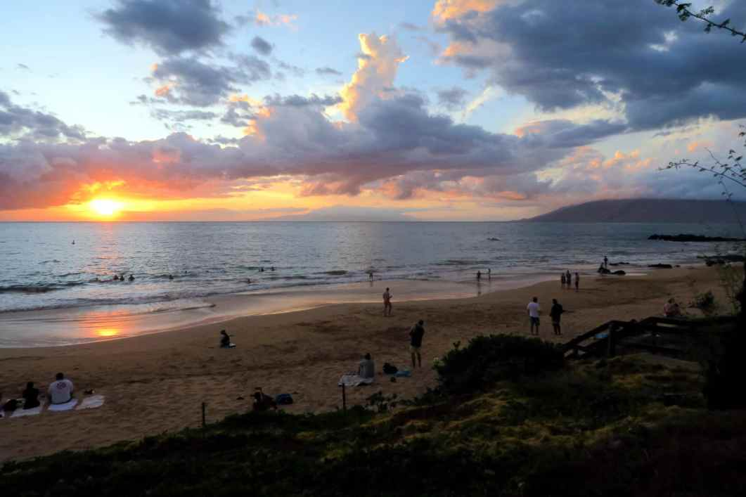 Sunset Kihei Beach Maui Hawaii