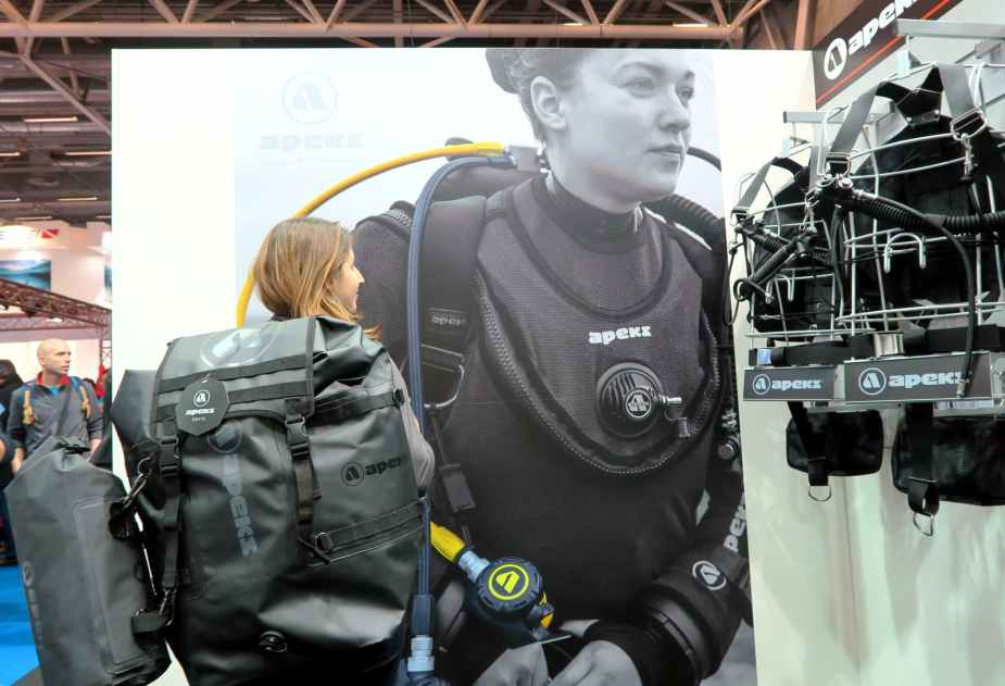 Diving bag at Paris Dive Show