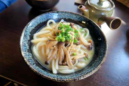 Udon noodles Yanaka Beer Hall Tokyo Japan