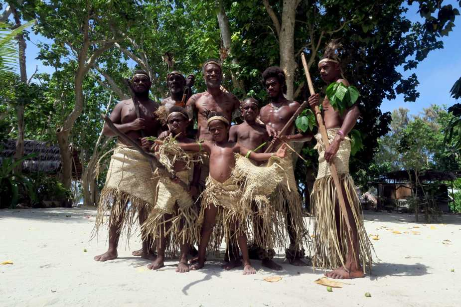 Fake kastom village Efate Vanuatu