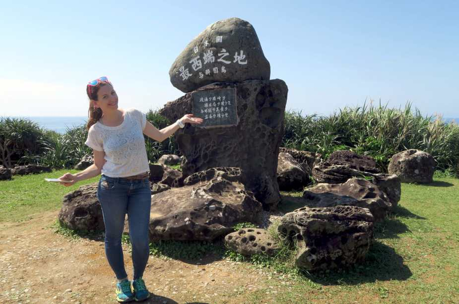Westnmost point of Japan Monument Yonaguni