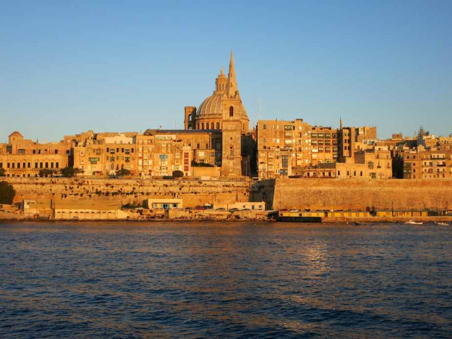 Valletta at sunset Malta