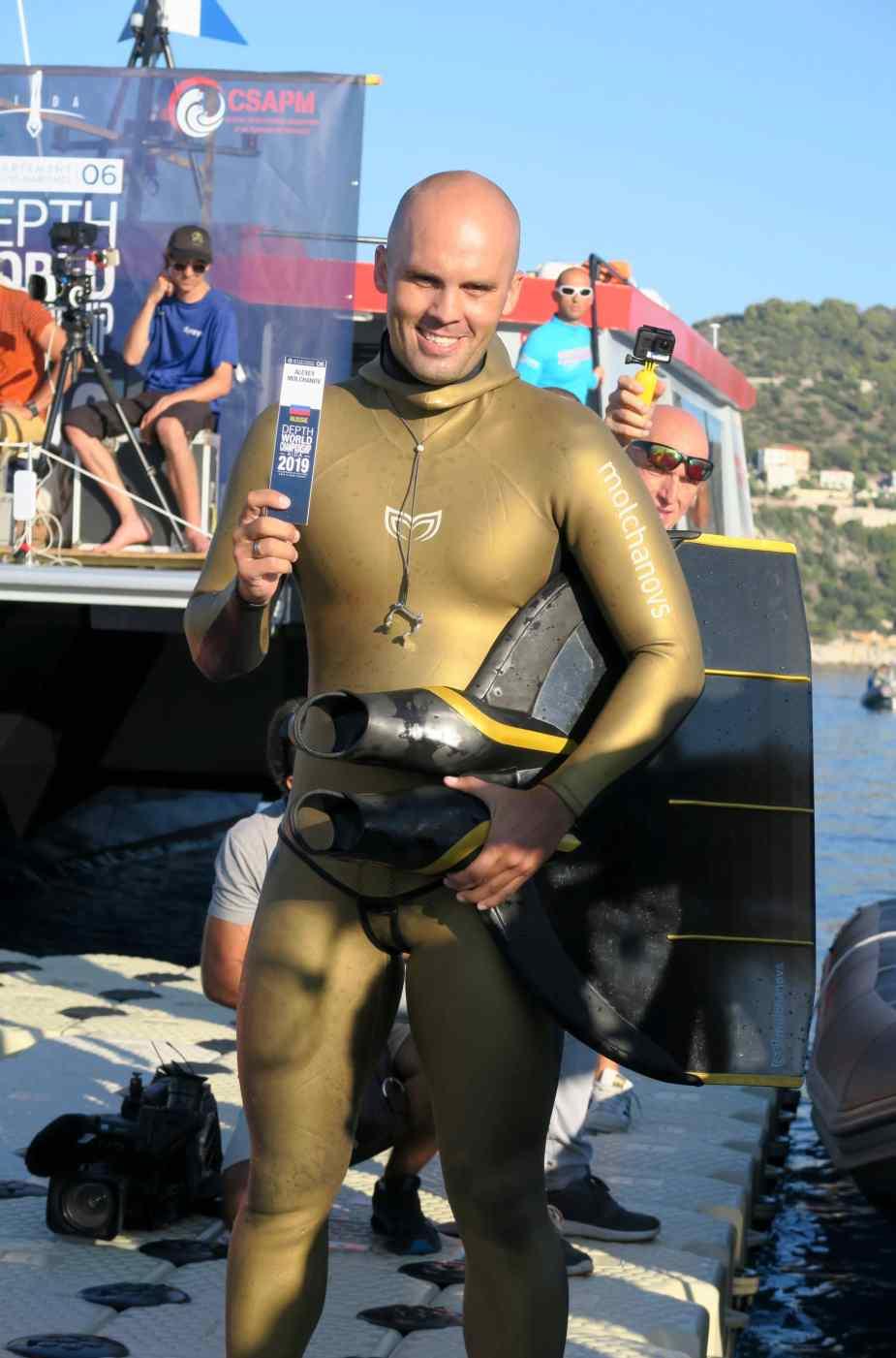 Alexey Molchanov AIDA Depth world championships 2019 Villefranche
