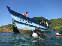 scuba diving boat goa