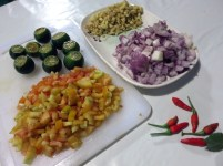 Preparing Kinilaw Bacong Negros Philippines