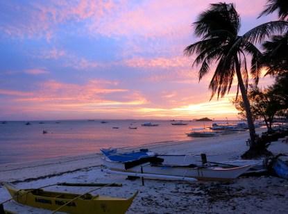 sunset Malapascua island Philippines
