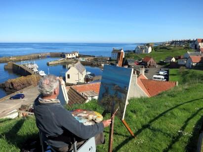 View St. Abbs Harbour Painter Scotland