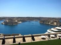 View from Upper Barraka gardens Valetta Malta