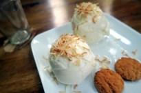 Homemade coconut icecream Omega Eco Lodge La Ceiba Pico Bonito National Park Honduras