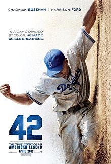 42 (2013) Genre : Biography | Drama | Sport The life story of Jackie Robinson and his history-making signing with the Brooklyn Dodgers under the guidance of team executive Branch Rickey. Director: Brian Helgeland Stars: Chadwick Boseman, T.R. Knight, Harrison Ford, Nicole Beharie