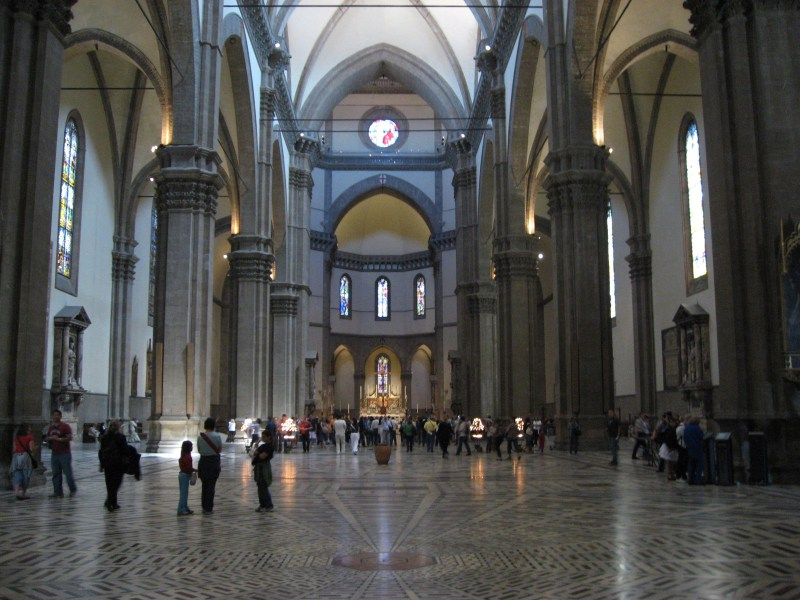 Beautiful sights Florence  Italy  Il Duomo interior view Beautiful sights Florence  Italy  Il Duomo interior view