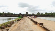 The approach to Angkor Wat allows one to see the scope of its glory