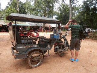 The tuktuk was our main mode of transportation in Siem Reap