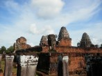 East Mebon is a similar temple to Pre Rup, but distinctive for the elephant guardians at the corners