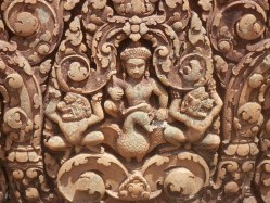 """Bantay Srei was called the """"Temple of Women"""" because the carvings were considered too delicate to have been created by men."""