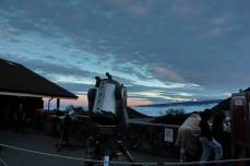 The Visitor Center on Mauna Kea offers free stargazing. And yes, those are clouds below us.