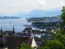 A view of Lucerne from the Musegg Wall.