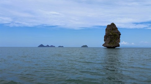 We passed this rock on the way to Song Pee Nong Beach and decided it would be our goal when we kayak.