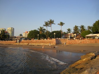 The Puerto Vallarta beach isn't the most perfect or amazing -- waves can get a bit rough. Still good fun when the tide is out.