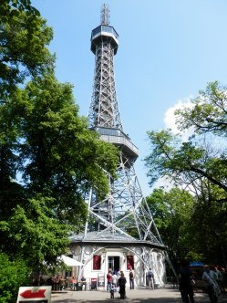 299 steps to the best view of Prague at the Petrin Lookout Tower.