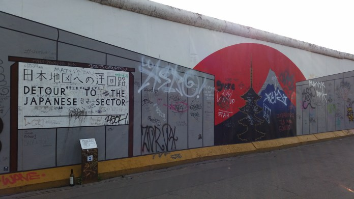 One of the murals on the East Side Gallery. Photo © David Greer.