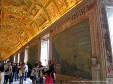 The Gallery of Maps inside the Vatican Museums.