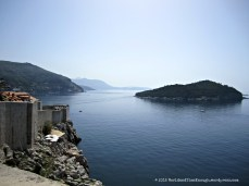 Dubrovnik is right on the Adriatic.