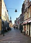 Empty streets of Gouda during Easter.
