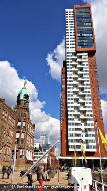 Another example of old and new juxtaposition all over Rotterdam.