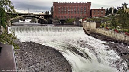 A waterfall in the center of town, why not? Spokane Falls.