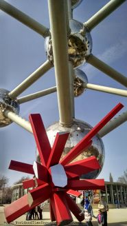 Rockgrowth, a sculpture at the bottom of the Atomium.