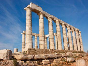 Temple of Poseidon. Creative Commons Sharealike photo by Belshyev.