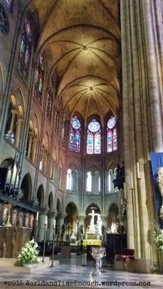 The altar and interior of Notre Dame