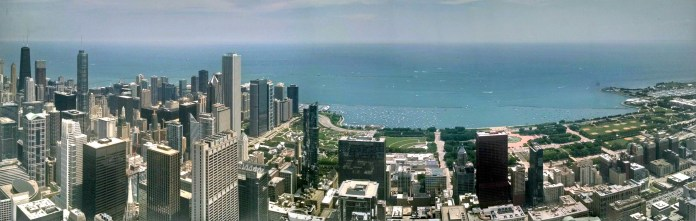 View from the top of the Chicago Skydeck