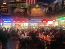 Inside the downtown Portillo's. Cool vibe