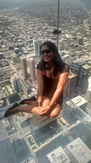 What a sight! Chicago through the Ledge.