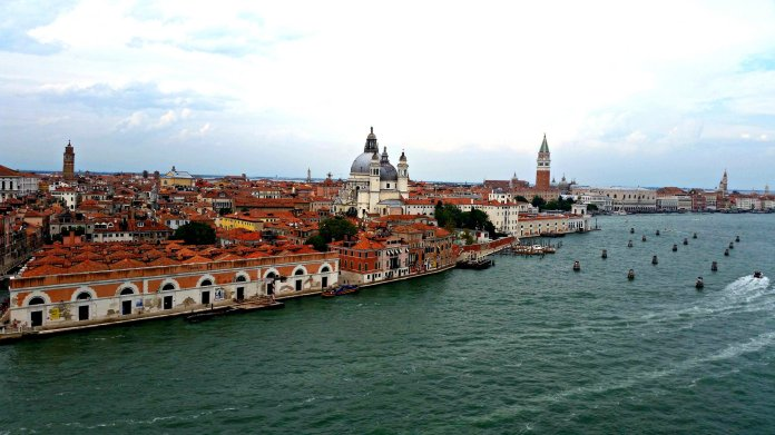 Basilica San Marco and the Campanile seen from the MS Zuiderdam. Amazing view!