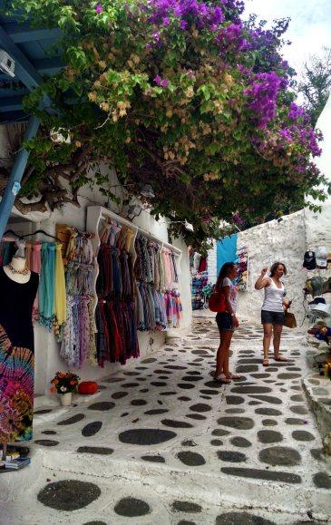 Outdoor shops in little alleys