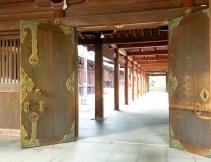 A corridor leading into the shrine precinct.