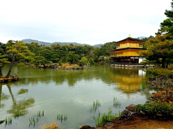 The Golden Pavilion across the pond.