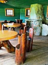 Inside the Totem Pole Lodge.