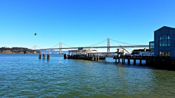 Bay Bridge, as seen from the Ferry Building.