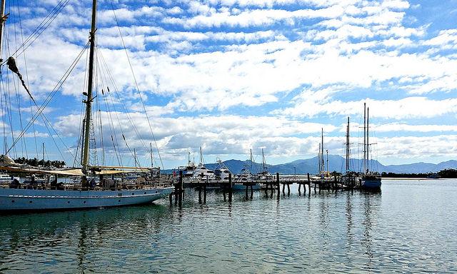 Boats docked at Port Denarau