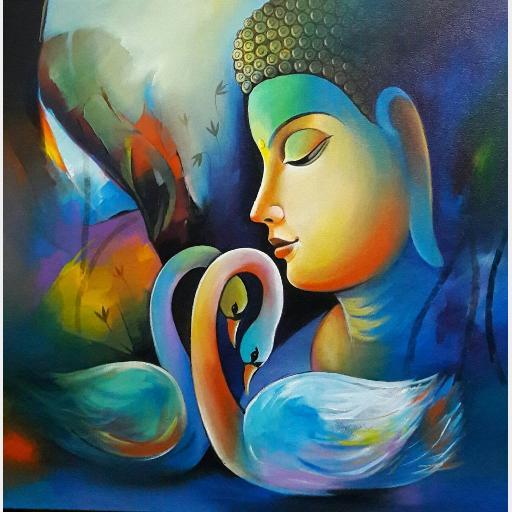 Buddha 3 Print On Canvas Portraits Figures Prints