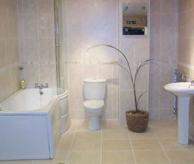 Accessories In The Interior Of A Small Bathroom